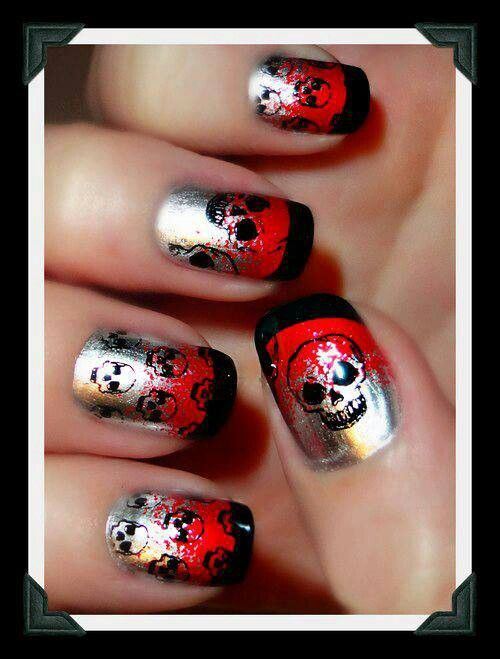 39 Best Images About Skull Nail Art On Pinterest