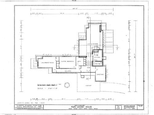 One Of Frank Lloyd Wrightu0027s Usonian Home Plans, A Beautiful Abstract  Composition