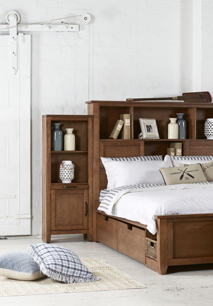 Queen Bedroom Suite: Bold, American Poplar Bedroom Suite With