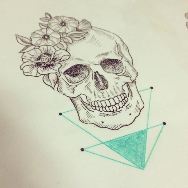 Caveira disponível para tattoo!