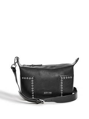 bc0aa54c36352 Stassi Grommet Messenger Bag   shop.GUESS.com. Sacs De MessagerMagasins NoirAccessoires ...