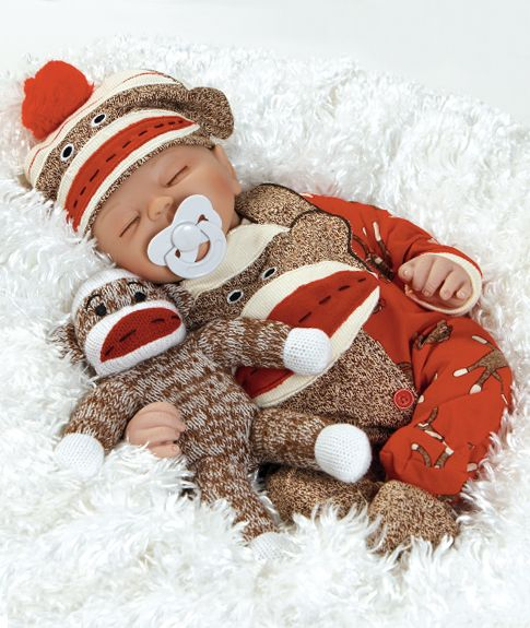 Cute Baby Dolls That Look Real | Baby Doll that Looks Real Sock Monkey Business