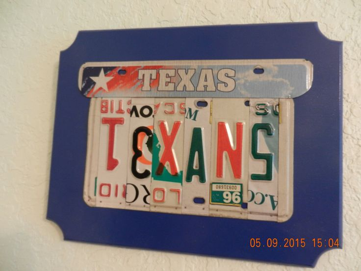 Texas Texans License Plate Sign for Houston Texans (Made to Order) by TreasuredSunsets on Etsy