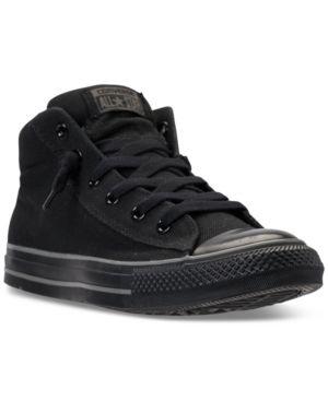715fa68c7280df CONVERSE MEN S CHUCK TAYLOR ALL STAR STREET MID CASUAL SNEAKERS FROM FINISH  LINE.  converse  shoes