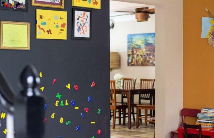 decorar pasillos con pintura magnetica
