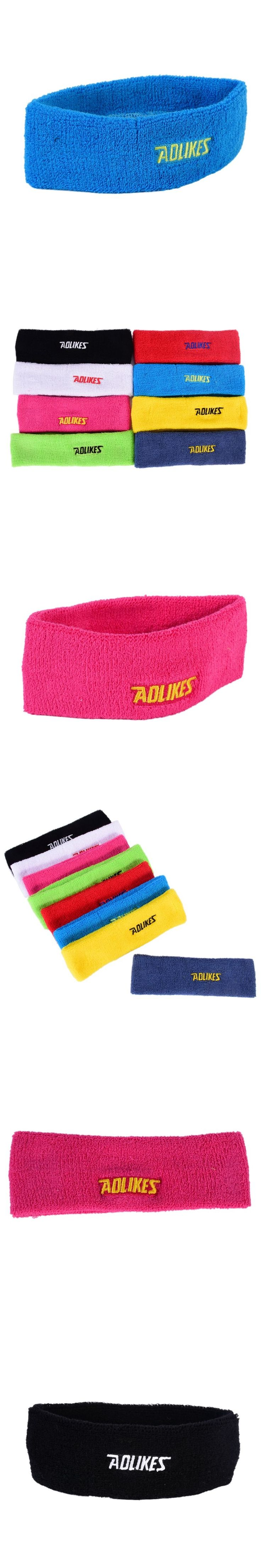 AOLIKES Solid Sweatband Sports Sportswear Safety Headband For Men Sweatband women Yoga Hair Bands Head Sweat 2017 New Arrival