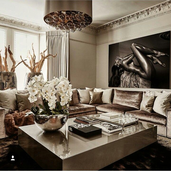 Luxurious home decor ideas that will transform your living for Living room ideas rose gold