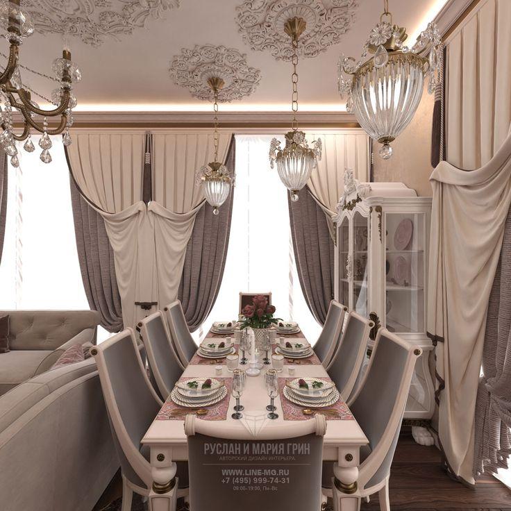 Дизайн гостиной в классическом стиле. Фото интерьера