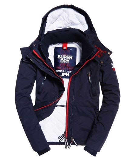 Superdry Hooded Wind Yachter Jacket Navy