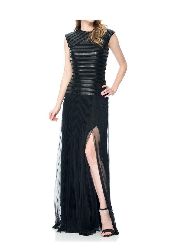 Black Tadashi Shoji Hilda Black Leatherette Gown - was $468.0, now $418.0 (11% Off) @ Ideel