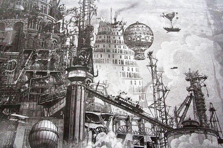 La Tour de Babel, version steampunk | by Mandril