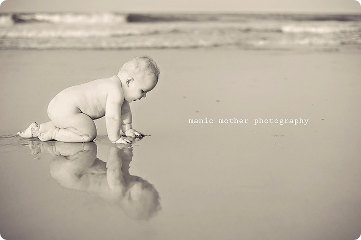 reflection. #reflection #photography #baby #beach Ideas for 6 month baby pics