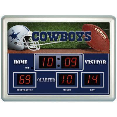 Team Sports America NFL Scoreboard Wall Clock NFL Team: Seattle Seahawks