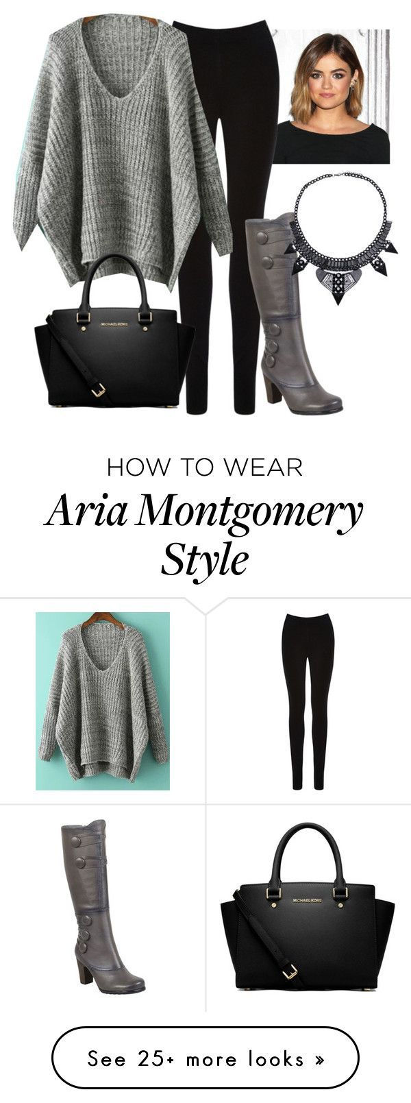 Aria Montgomery by pllplease on Polyvore featuring Oasis, Miz Mooz and MICHAEL Michael Kors