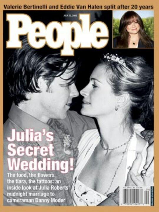 Julia Roberts And Danny Moder Wedding Photos
