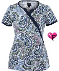 Med Couture Scrubs Savvy Chic Print Top Style #  P8431SVC #uniformadvantage #scrubs #nursing