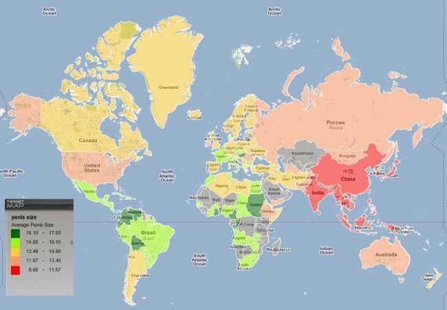 Карта размеров пенисов