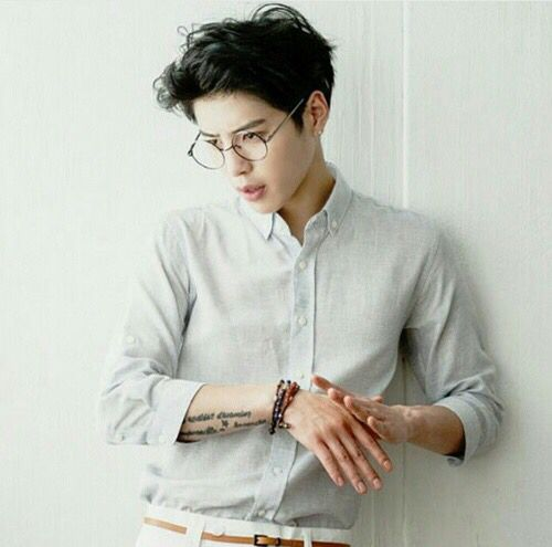 Sang Gil Go Korean Model Ulzzang boy glasses tattooed Korean Fashion