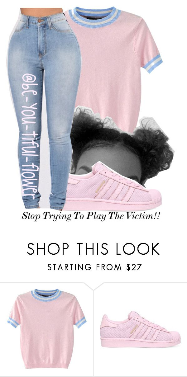 """//Playing//"" by be-you-tiful-flower ❤ liked on Polyvore featuring WithChic and adidas"
