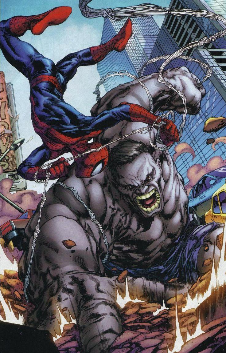 Hulk Cinza vs Homem Haranha. Demaaaais!