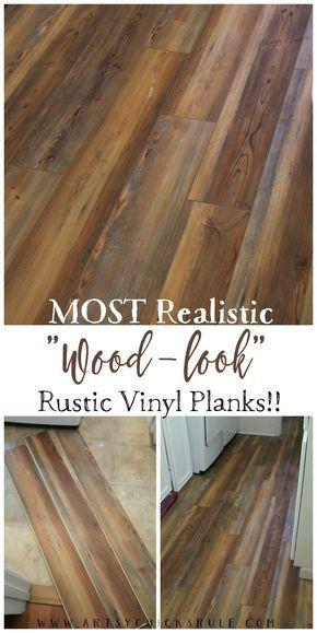 Farmhouse Vinyl Plank Flooring - Most Realistic Wood Look - artsychicksrule.com
