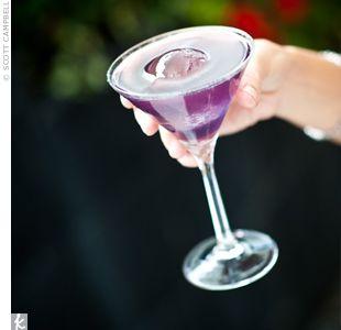 purple wedding cocktail!