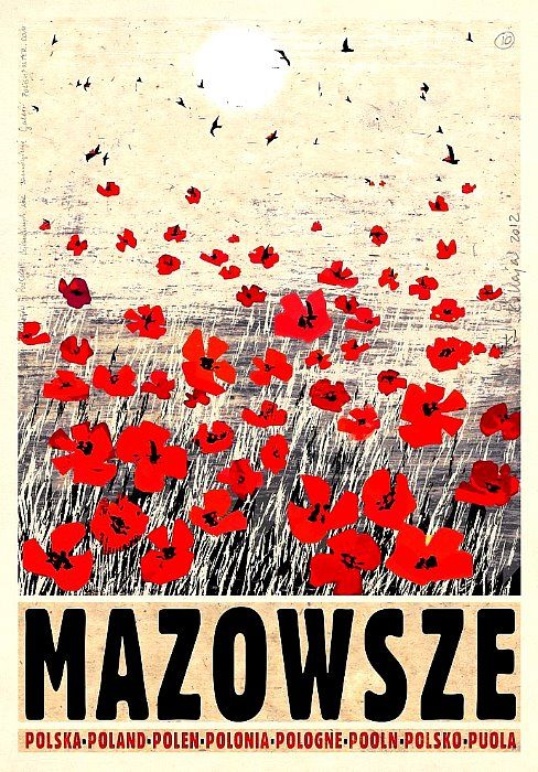 Mazowsze, Mazovia, Polish Poster designer: Ryszard Kaja I have these going up soon - v excited
