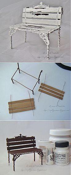 Миленькая скамеечка из проволоки   Умелые ручки