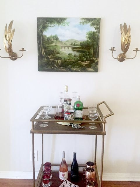 While I Was In LA, I Did A Little Restyling Of Our Daughter, Alexandrau0027s  Boho Chic Living Room, But Only Remembered To Take A Photo Of Her Bar Cart  With The ...