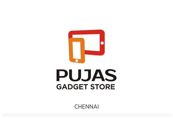 Pujas Gadget Store, Chennai Logo Design by Fineline Graphics @ www.finelinelogo.com
