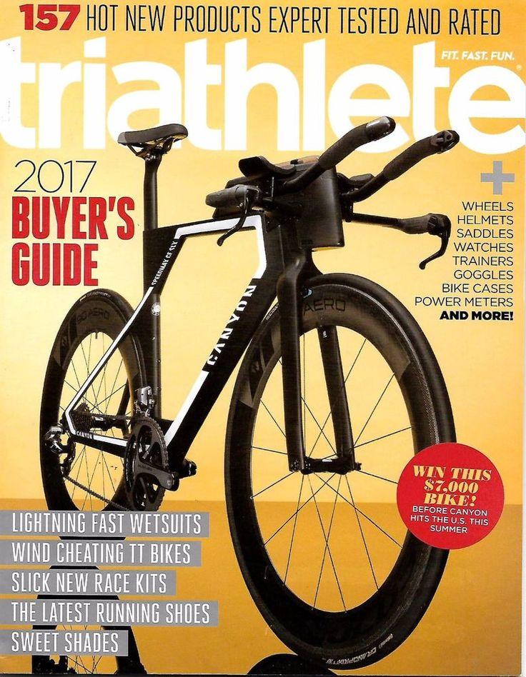 Triathlete Magazine Spring 2017 BUYERS GUIDE, Wetsuits, TT Bikes, Race Kits -NEW