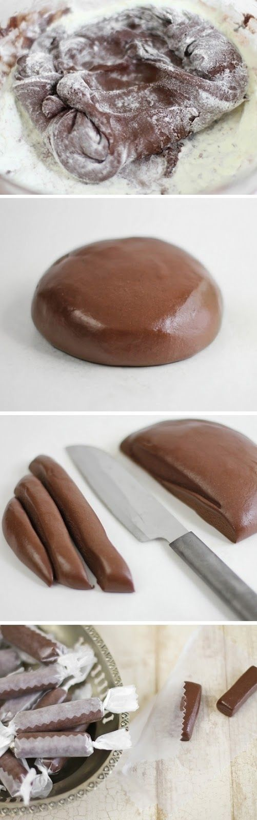 Homemade Tootsie Rolls.  Can't wait to try this!