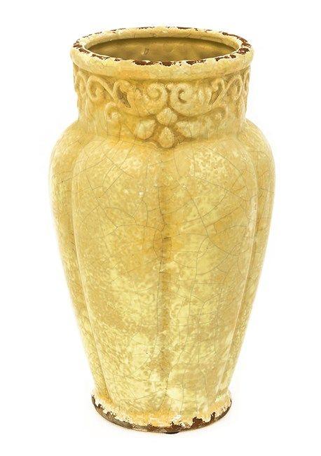 Ваза керамическая желтая - фото 13102