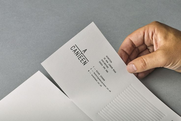 acanteen letterhead perforated by iwant design