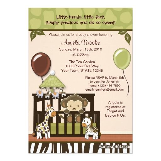 Baby Shower Monkey Themes For Boys | ... baby monkey which matches perfectly with a jungle themed baby nursery