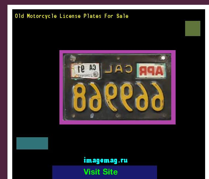 Old motorcycle license plates for sale 191015 - The Best Image Search