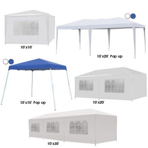 10  20  30  Canopy Party Wedding Outdoor Tent Heavy Duty Gazebo Pavilion Cater | eBay