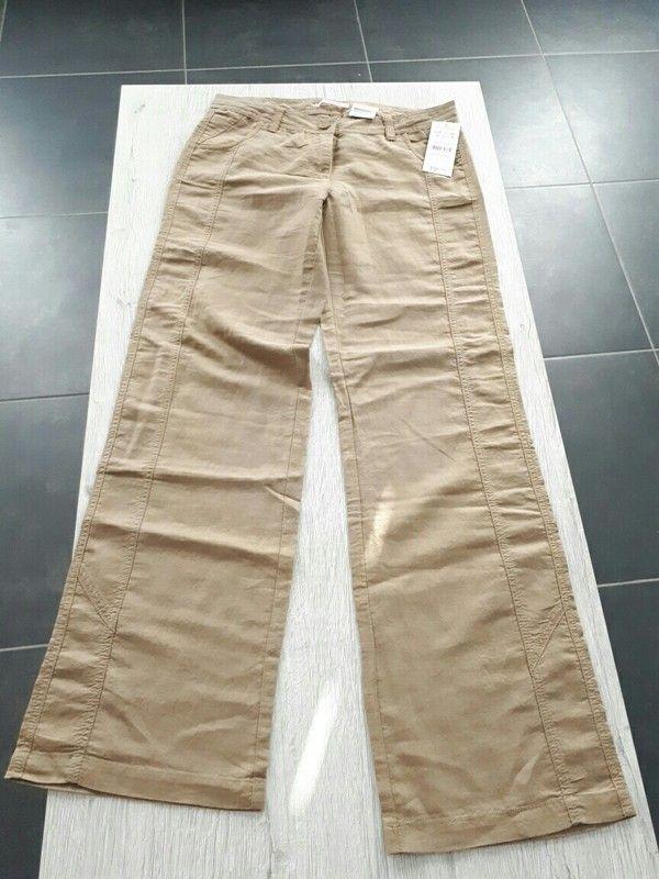 Pantalon léger beige marron