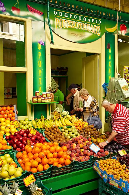The Food Market, Ermoupolis, Syros Island, Greece. Photo: Paul Williams