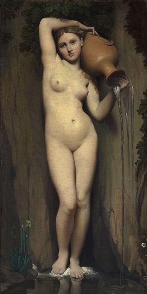 La sorgente, 1820-1856, olio su tela di canapa, Musée d'Orsay, Parigi