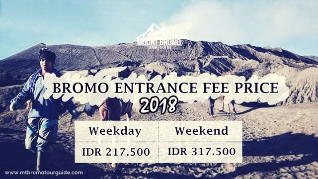 Bromo entrance fee price 2018 is the most important NEWS must You known before entering Mount Bromo national park conterminous with huge visitors who always full in this volcano tourism