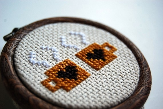 Cocoa cross-stitch. Perfect!