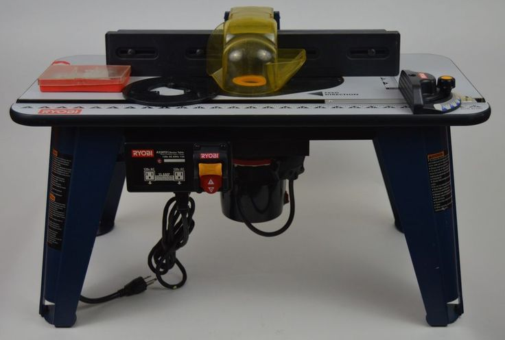 Ryobi Router Table Model A25RT01 With Craftsman Router 315.17492 and  Bit Set  #Ryobi