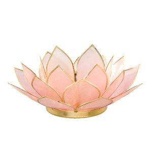 This handmade tea light holder is designed in the shape of an open lotus flower…