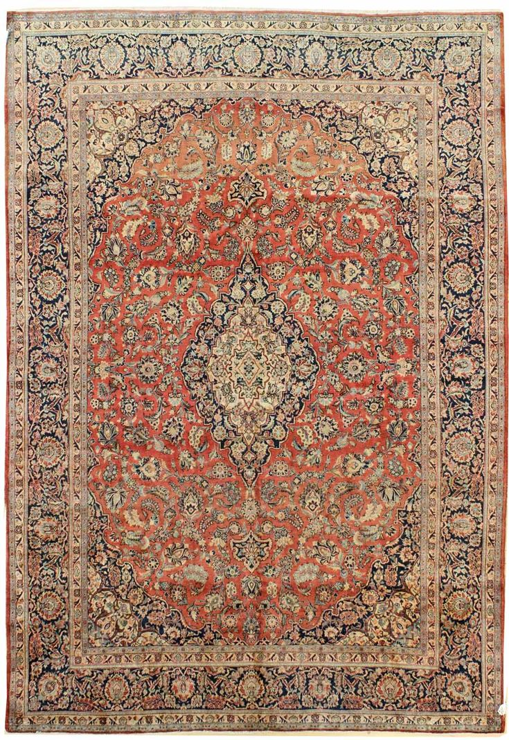 Other Antique Formal Rugs Gallery: Antique Kashan Rug, Hand Knotted In  Persia;