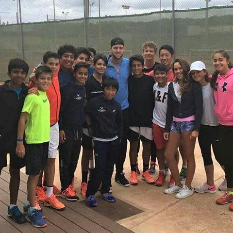 Jack Sock has been training in the Rafa Nadal Academy. It has been a pleasure!  Thank you! 🙂 #tennis