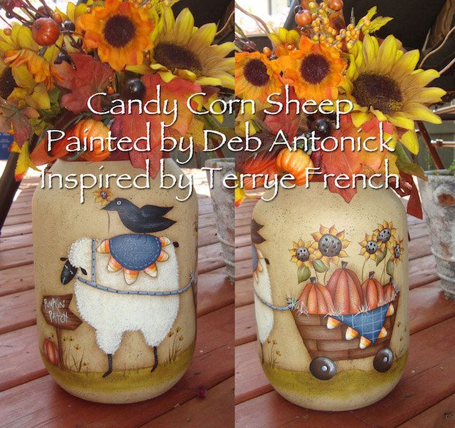 Candy Corn Sheep  - by Deb Antonick, E-Pattern by PaintingWithFriends on Etsy