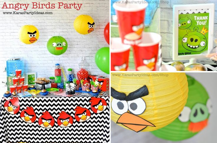 92 best brody 5th bday images on pinterest star wars for Angry birds decoration ideas