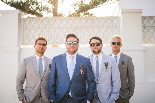 Groomsmen in Santorini | Image by Sam Hurd | Stella And Moscha Exclusive Greek Island Weddings   #weddingportrait #santoriniphotographer #santoriniwedding #santoriniflorist #stellaandmoscha #santoriniweddingplanner