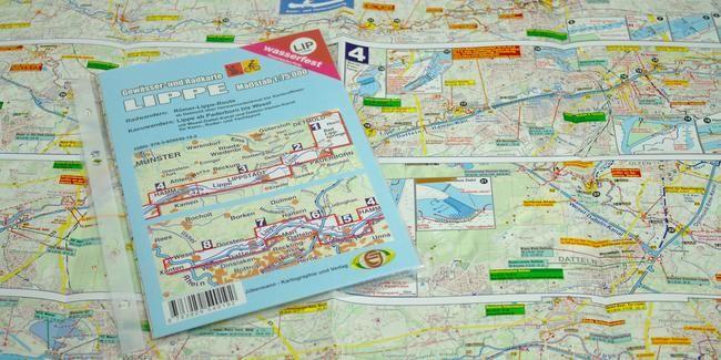 Die wasserfeste Gewässerkarte Lippe ist für Kanufahrer, Ruderer und Radfahrer geeignet. Außer der Lippe von Paderborn bis Wesel enthält sie auch den Wesel-Datteln-Kanal sowie den Datteln-Hamm-Kanal. Für Radfahrer ist die Römer-Lippe-Route von Detmold bis Xanten/Rhein aufgenommen.  Die im Maßstab 1:75.000 erstellte Karte ist 42 x 59,5 cm groß und wird gefalzt auf DIN A5 in einer Klarsichthülle geliefert.